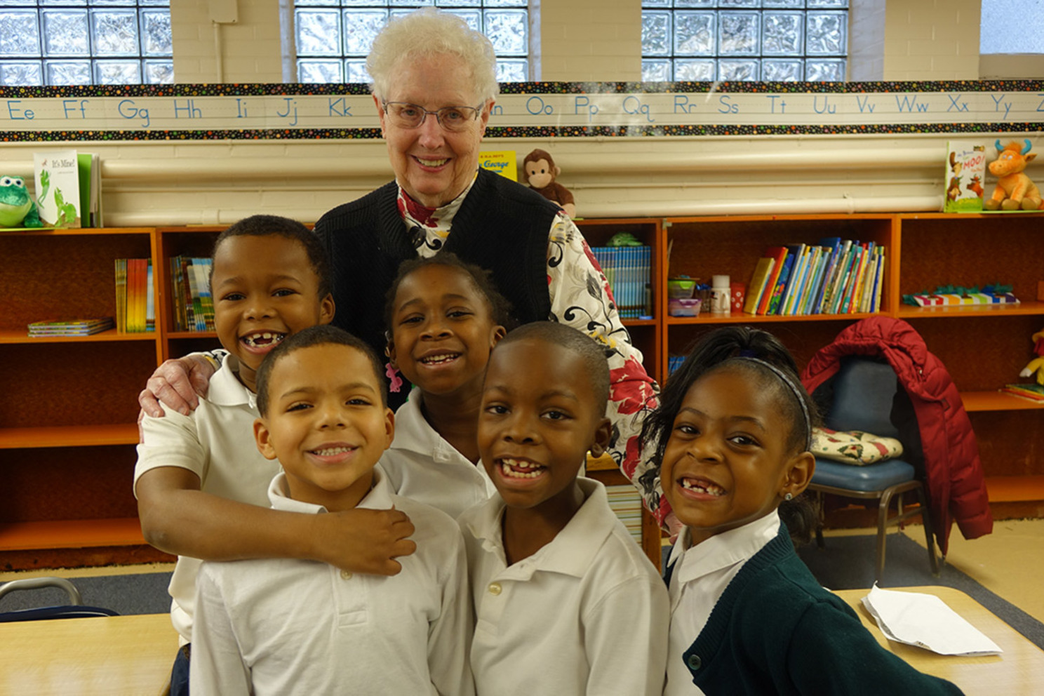 Sr helen marie and 5 students 2